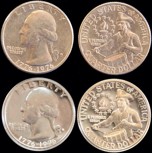 MINT PROOF COIN SET 6 Coins in Sealed Plastic Display Case 1975-S 1776-1976 U.S
