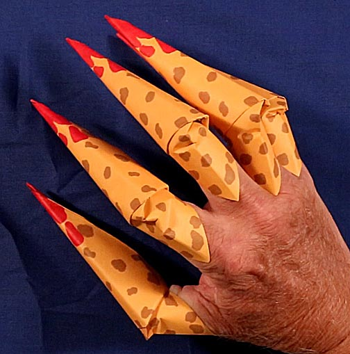 Easy step-by-step instructions on how to fold Origami Claws ... | 509x504