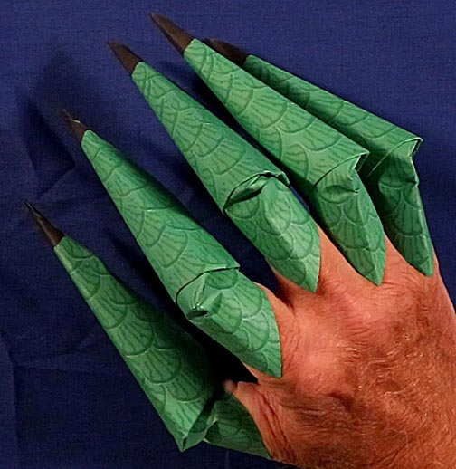 Printable Origami Claws