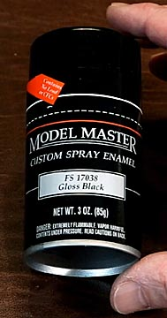 surface with the fewest runs was model master gloss black spray paint. Black Bedroom Furniture Sets. Home Design Ideas