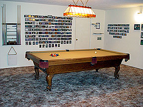 ... Is A Completely Finished Garage With Windows, Full Length Drapes,  Wall To Wall Carpeting, And Best Of All My Nine Foot Olhausen Provincial Pool  Table.