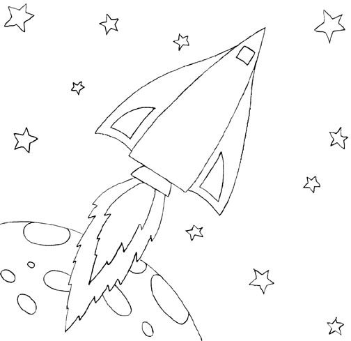 Free Coloring Pages Of Rocket Ships Rocket Ship Coloring Page