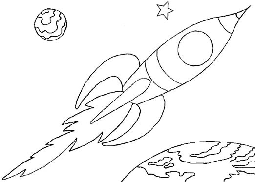 Line Art Rocket : Wayne schmidt s free space ship coloring page