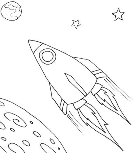 wayne schmidts free space ship coloring page