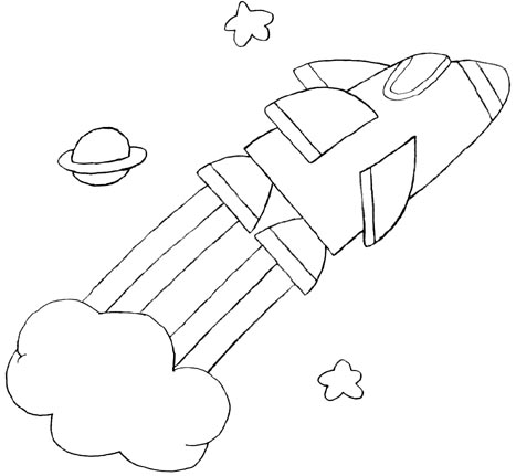 Wayne Schmidt\'s Free Space Ship Coloring Page