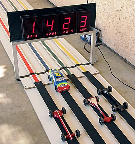 DIY Arduino based Pinewood Derby Timer PDT with